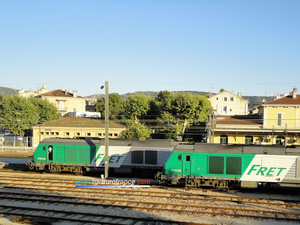 Deux locomotives Diesel-électriques BB75000 de la gamme Prima d'Alstom