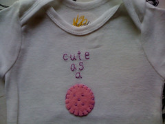 Cute as a Button onesie