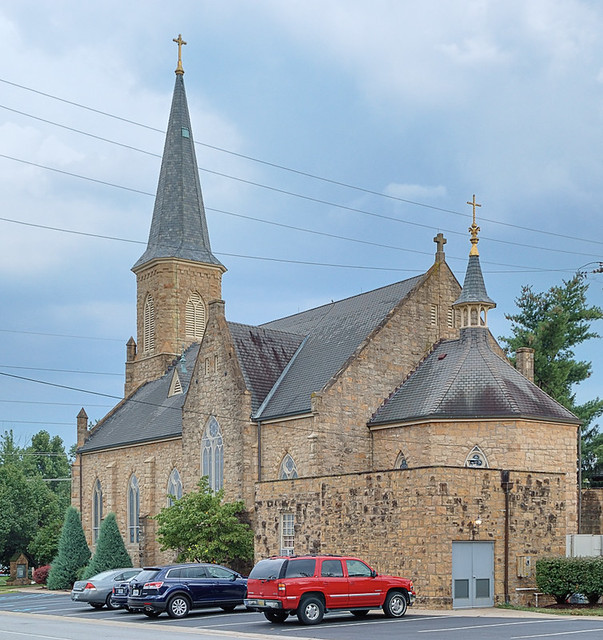 Immaculate Conception Church, in Dardenne Prairie, Missouri, USA - old church