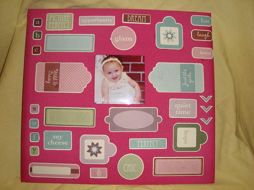 Scrapbook album cover