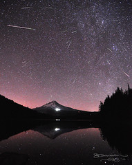 Perseid Meteor Shower (Gary Randall) Tags: lake night oregon space mthood mounthood meteor shootingstars trilliumlake perseid perseidmeteorshower persius swifttuttle garyrandall dsc28942