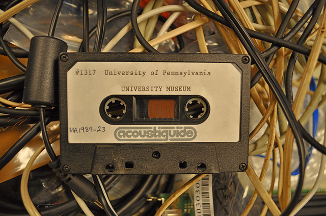 Pennsylvania University Museum Taped Audio Tour. Foto: Amy Ellsworth, http://penn.museum/blog