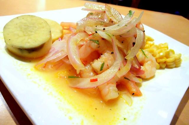 Peru: Warm Prawn Ceviche