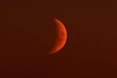 Blood Moon (dobienet) Tags: sunset moon scotland bloodred