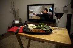 I loooove (Jennifer Galindo {www.jennifergalindo.com}) Tags: red chicken dinner wine knife mashedpotatoes livingroom gaelgarciabernal greensalad thescienceofsleep stellarosa