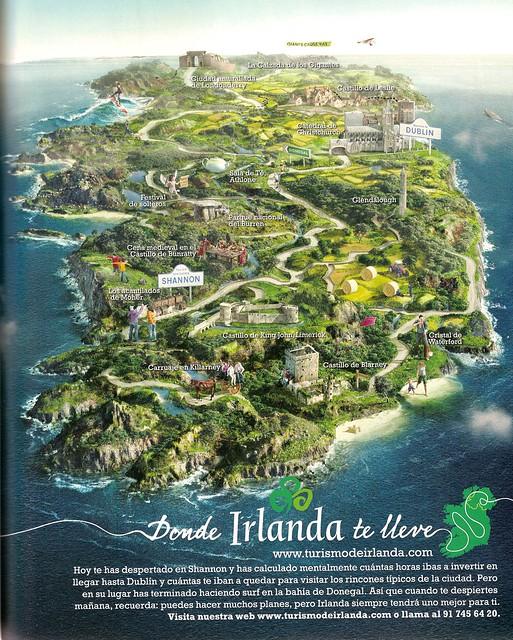 Mapa Irlanda Turística
