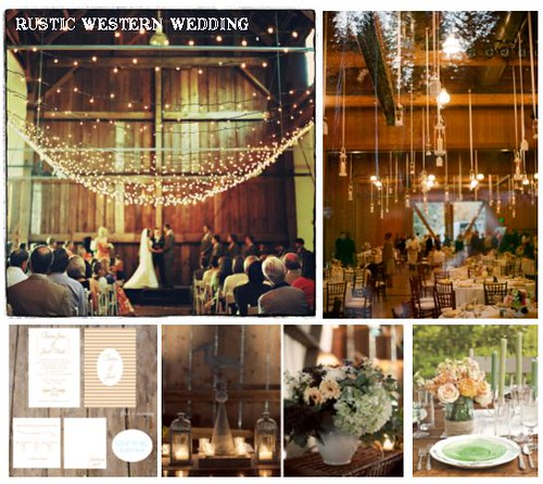 Rustic Western Wedding Image credits starting from the left going clockwise