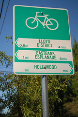 Bike route wayfinding signs-2