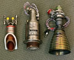 Apollo Rocket Engines: SE-6, SE-8 and R-4D (jurvetson) Tags: engine nasa lm apollo lunar gemini module tpc r4d rcs buzzaldrin marquardt rocketdyne se8 oams se6 hypergolic bipropellant 228686501 tpcu2 tpcu2l4