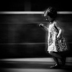 I'll always have time to run towards you (Christine Lebrasseur) Tags: street city portrait people blackandwhite white motion black blur france art 6x6 canon movement child dress action body profile bordeaux running run fr gironde 500x500 artlibre allrightsreservedchristinelebrasseur quaidesmarques