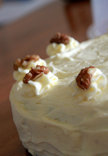 Carrot Cake with Lemon Cream Cheese Icing