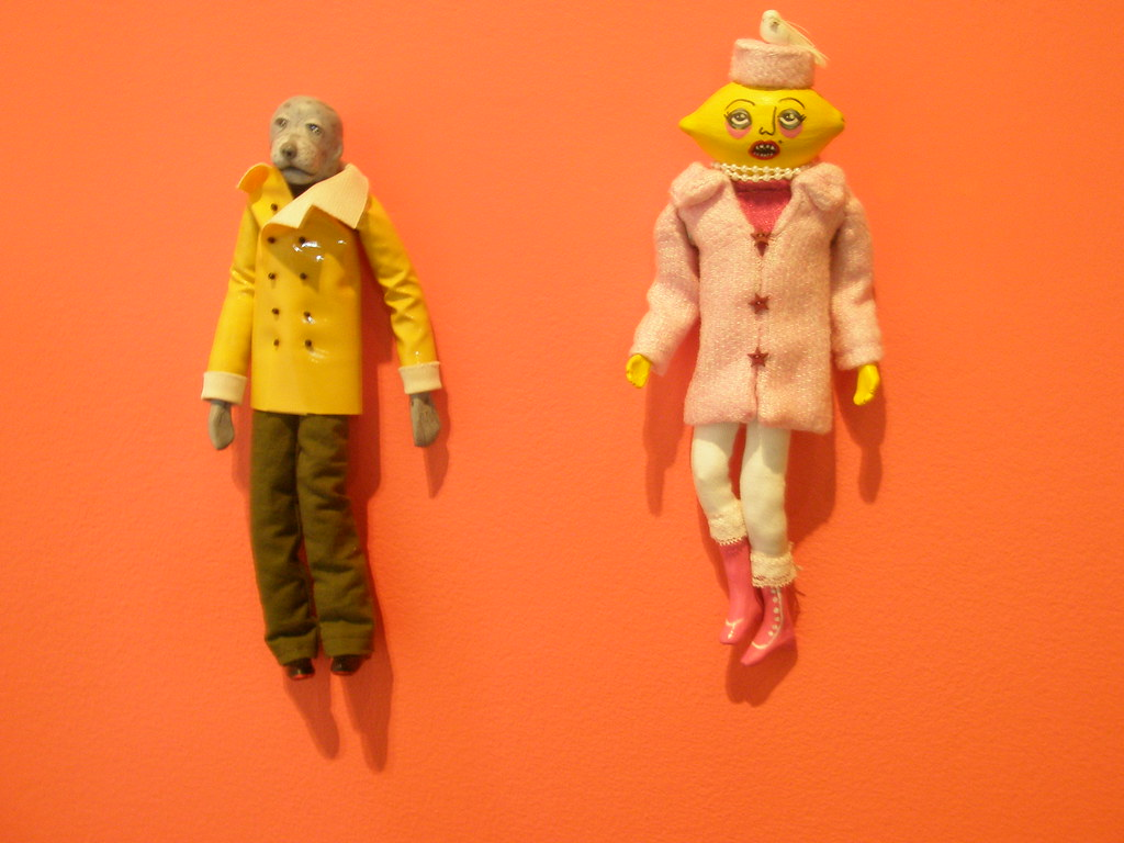 Jennie O'Keefe 'Mr. Seal' and 'Miss Meringue', 2008. Museum of Contemporary Canadian Art (MOCCA), exhibition 'Pulp Fiction', Toronto, Canada