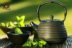 Black iron asian teapot with sprigs of mint for tea (Roberto Fernandes (Fotgrafo)) Tags: china wood brown india canada black hot green cup japan asian japanese gold leaf healthy asia iron rice tea sweet indian traditional chinese culture mint lifestyle dry bowl east mat drinks zen crop medicine healthcare herb variation saucer loose zenlike brewed asiaasianbowlbrewedbrownchinachinesecropculturecupdrinksdryeastgreenhealthcarehealthyherbhotindiaindianjapanjapaneseleaflifestyleloosematmedicinericemintsaucersweetteatraditionalvariation