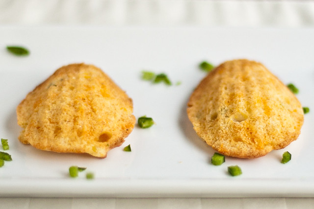Sweet and Spicy Cornbread Madeleines