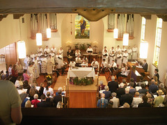 First Evangelical Lutheran Church in Palo Alto, California on Easter Sunday