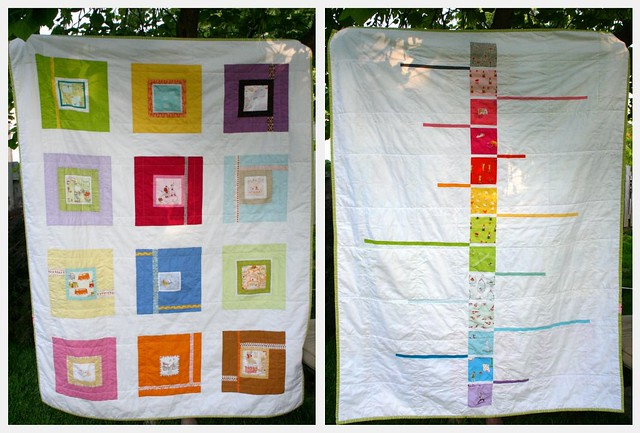 Neverending story quilt - front and back