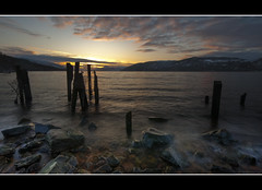 Loch Ness - Dores (Craig Robertson) Tags: winter sunset snow water landscape scotland highlands rocks explore loch lochness dores greatglen