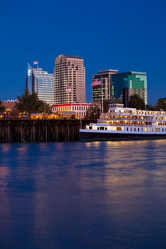 Delta King on the Sacramento River at Night