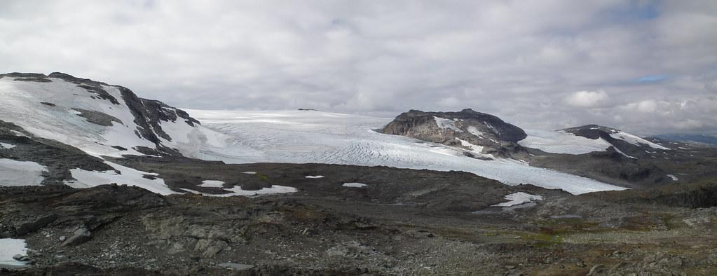 zicht op Hardangerjøkulen