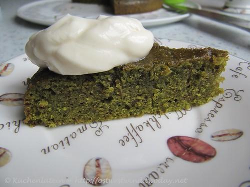 Grünteekuchen mit Crème Fraîche 002