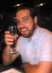 Kevin enjoying his beer