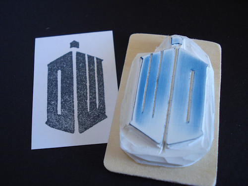 new Doctor Who rubber stamp
