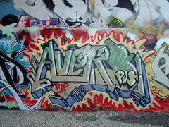 Avers Memorial piece (Grimey  Trains) Tags: street canada art vancouver graffiti peace bc funeral rest piece burner pos leeside avers