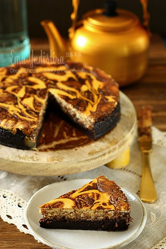 flourless chocolate cheese marble cake