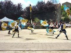 Lancers de drapeaux par les Sbandieratori de Fivizzano