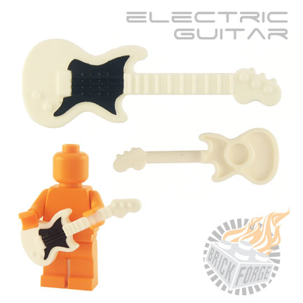 Electric Guitar - White (black pickguard print)