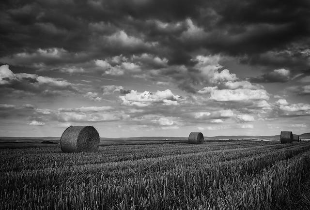 More Hay Bales & More Clouds