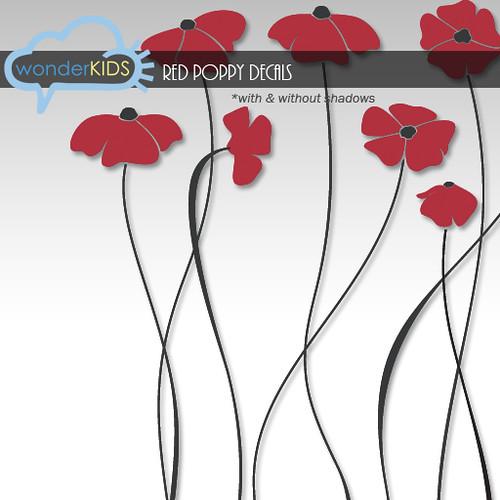 <(wonderkids)! red poppy decals