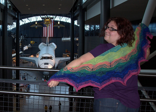 The shawl saw the space shuttle at the Air & Space Museum- Udvar-Hazy,  that is