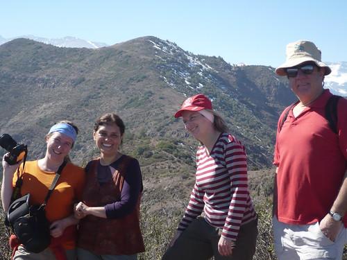 Paula, Verónica, Rebeca y Pancho