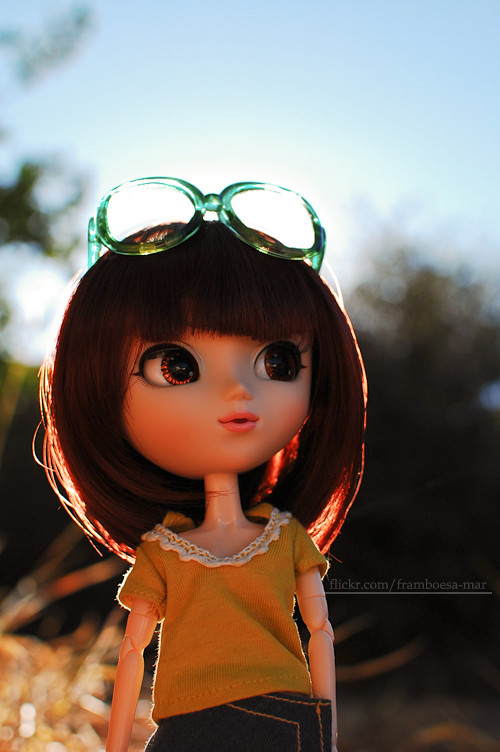 ce0f51f55cbaa Ayako (M. Ribeiro ) Tags  cute yellow glasses doll colorfull pullip boneca