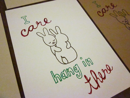 I Care Hang in There - Bunny Gocco Print 10