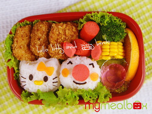 Hello Kitty and Piggy bento