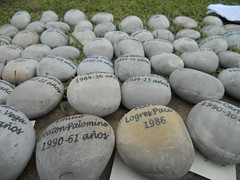 Newly Inscribed Stones w/ Names of Victims