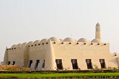 Qatar's State Mosque (Omar Chatriwala) Tags: street morning construction gulf state minaret muslim prayer mosque khalifa domes masjid doha qatar