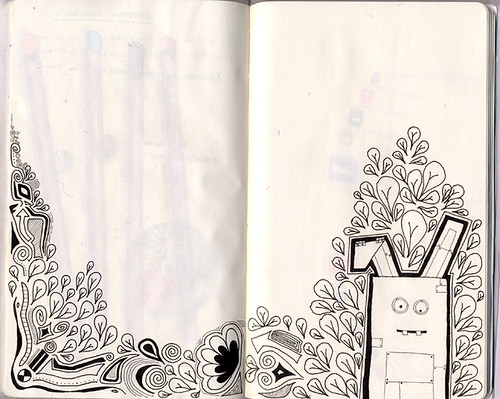 Sketchbook Project: Robot Bunny