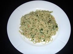 Pasta med chili/hvidløgsolie og persille