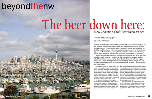 Beer Northwest - Beer in NZ article p1