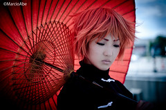 Cosplay Jam Revolution   (Abe Massayuki) Tags: game anime umbrella comic cosplay character manga convention  cosplayer kagura         gintama abechan   janomegasa   costumeplayer nikonflickraward  marcioabe marciomabe   janomekasa