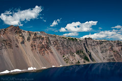 Rim of the Deep Blue Lake, Crater Lake (Nick Chill Photography) Tags: cliff lake skyline oregon photography volcano nikon image stock explore caldera rim craterlakenationalpark d300s nickchill deepbluelake