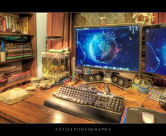 Artie & the HDR Factory :: HDR (Artie | Photography :: I'm a lazy boy :)) Tags: home photoshop canon computer desk tripod australia wideangle adelaide southaustralia ef 1740mm hdr artie cs3 f4l photomatix tonemapping tonemap 5xp 5dmarkii 5dm2