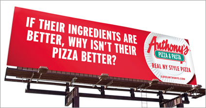 Anthony's Pizza & Pasta billboard