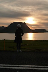 Me thinking about crossing the street (filosofiflickan) Tags: street sunset nature myself island iceland snfellsnes solnedgng