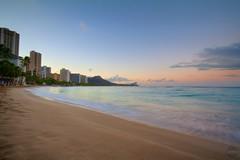 Morning at Waikiki Beach