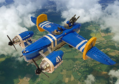 Blue Lightning (JonHall18) Tags: plane fighter lego aircraft fantasy scifi vehicle bomber moc skyfi dieselpunk dieselpulp