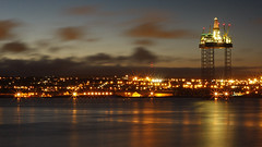 Oil Rig and Dundee Nightscape (Photogravy) Tags: ocean city sea industry night port docks river fossil scotland industrial cityscape nightshot rivertay fife dundee angus estuary tay nighttime carbon tayside footprint oilrig fuels